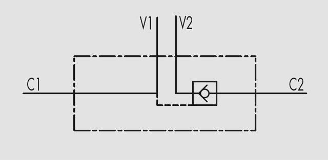 Гидрозамок VBPSE 4 VIE односторонний (одноклапанный)