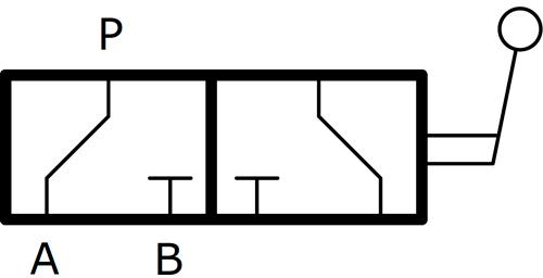 Кран шаровый RAS3 трехходовой гидравлический