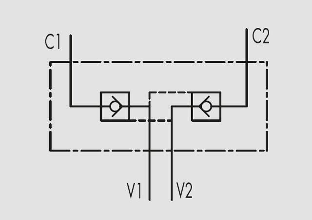 """Гидрозамок VBPDE FLV VBPDE 1/4"""" A FLV, VBPDE 3/8"""" A FLV"""
