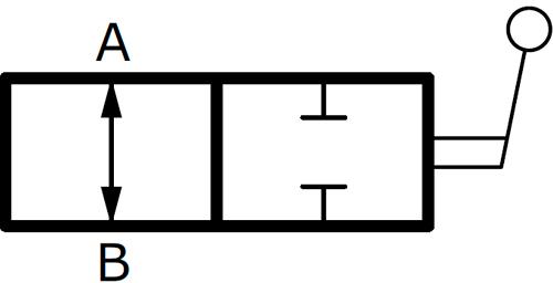 RAS2 OLEOWEB Кран гидравлический двухходовой