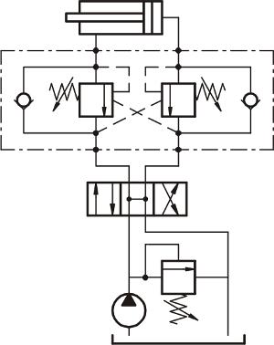 Тормозной клапан гидравлический