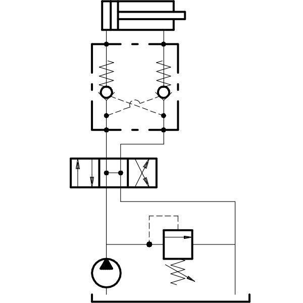 Гидрозамок VBPDE FLV с болтом